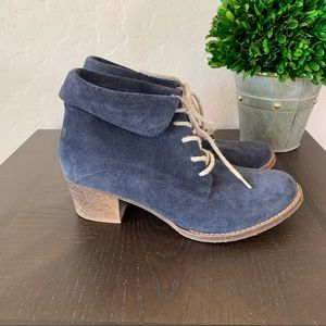 Salamander Womens Ankle Blue Suede Leather Booties